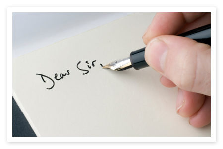 Photo of writing a letter