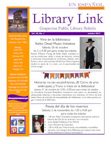 October 2019 Library Link Newsletter - SPANISH