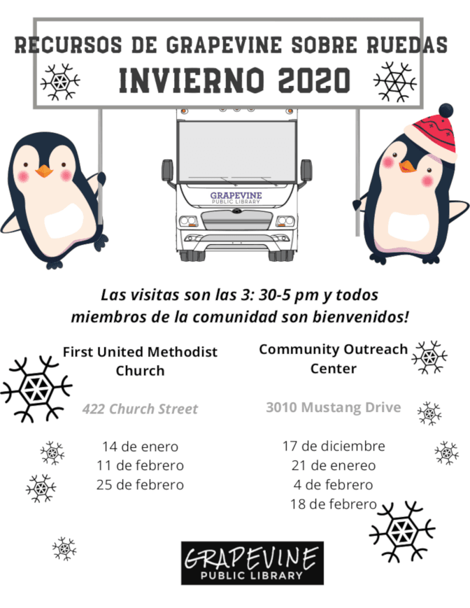 GROW Winter Schedule in Spanish